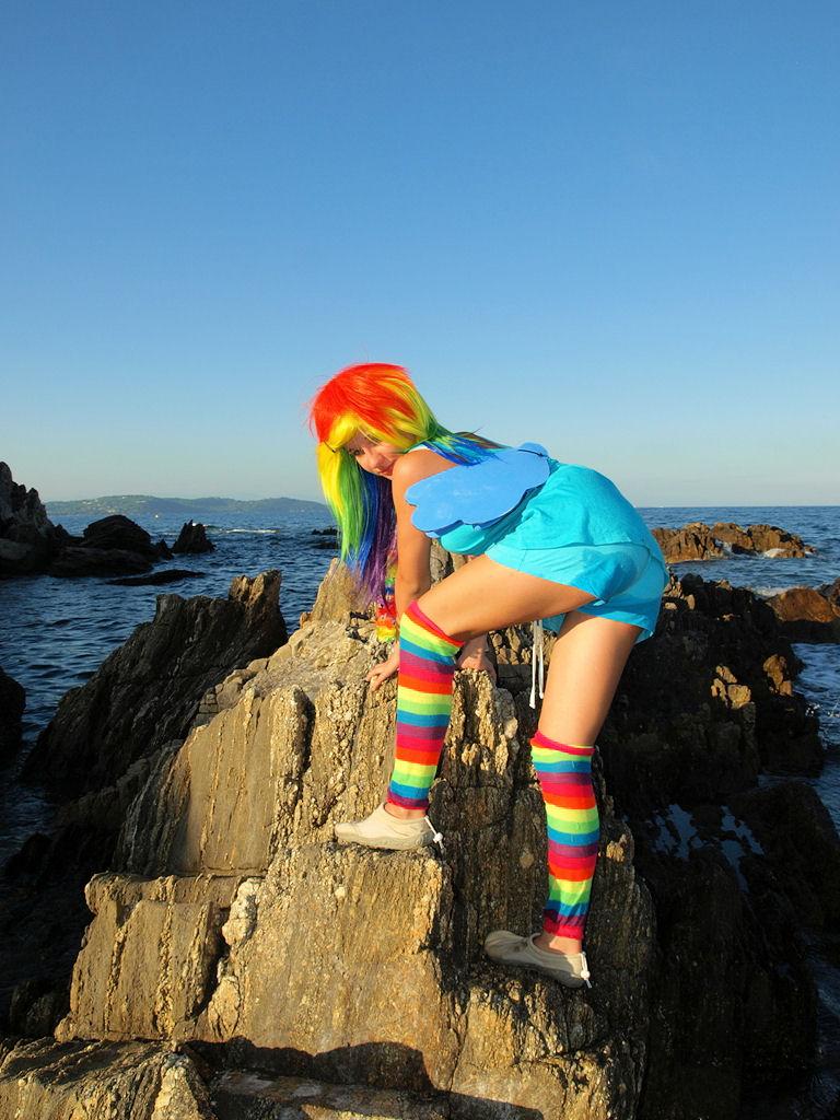 Rainbow - Dash - Shooting auf den Klippen von St. Tropez IV