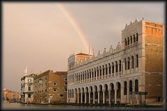 rainbow in canal grande