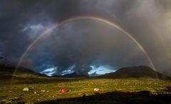 Rainbow in swedish lappland