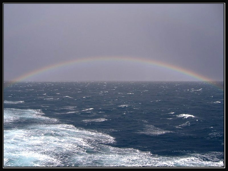 Rainbow in the North Sea