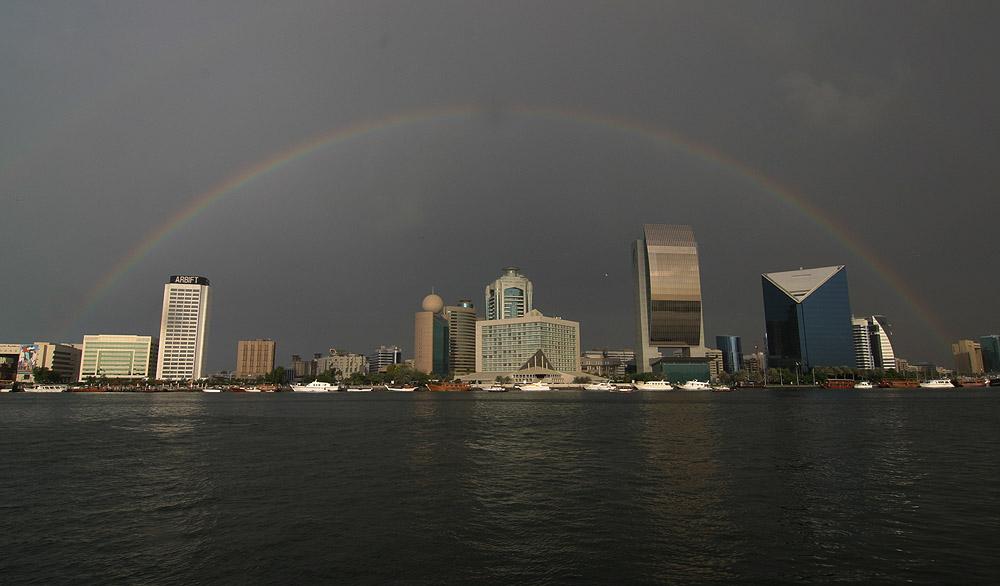 Rainbow over Dubai