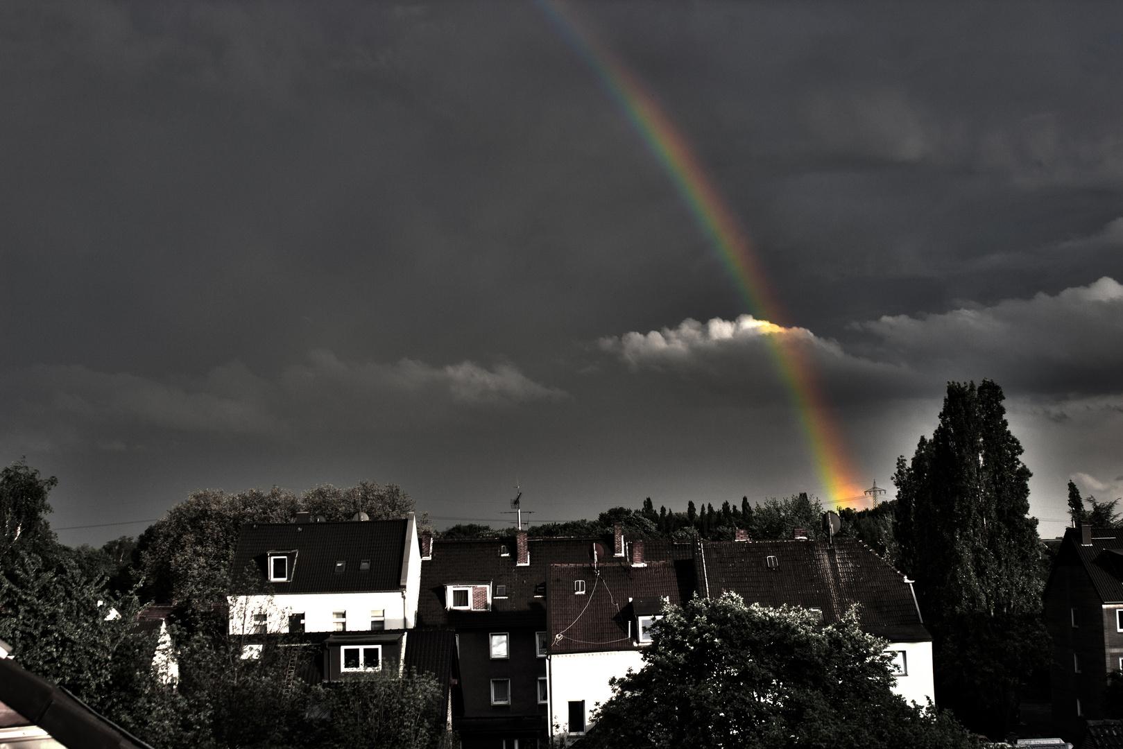 Rainbow over Duisburg