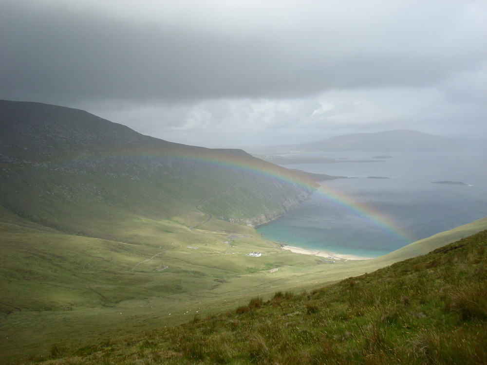 Rainbow over Keem Beach, Achill Island, Ireland