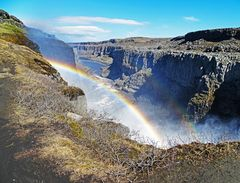 Rainbow seen at Icelandic Waterfall