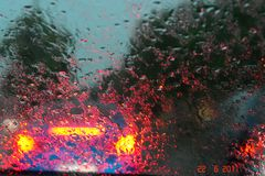 ' Raindrops Keep Falling On My Car ..'