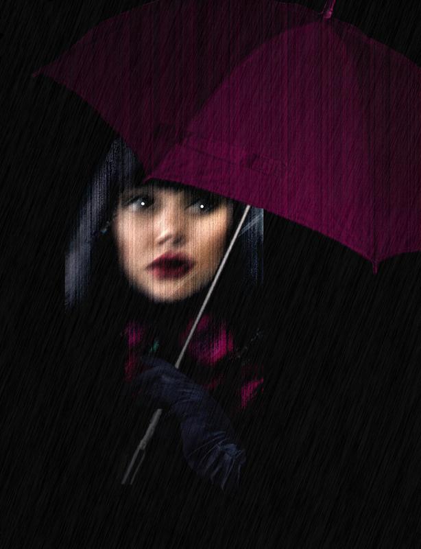 Raining...  outside