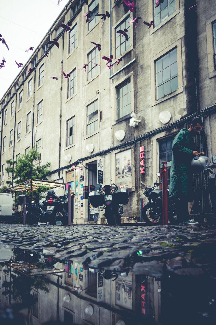 Rainy day in Lisbon