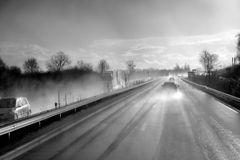 rainy road to Strasbourg