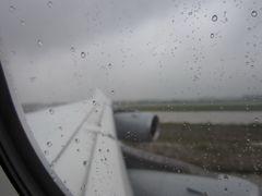 rainy take-off ...