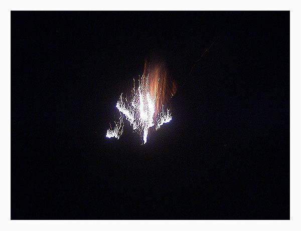 Rakete in der Silvester Nacht