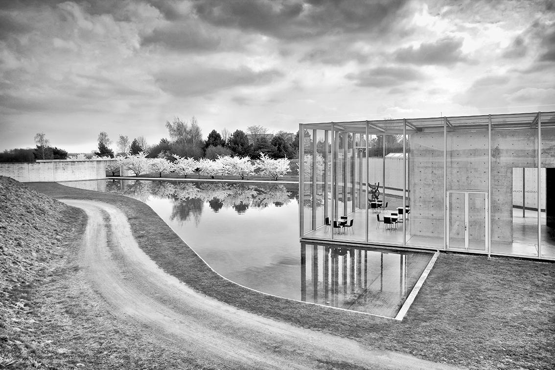 Raketenstation Hombroich, Langen Foundation im Frühling