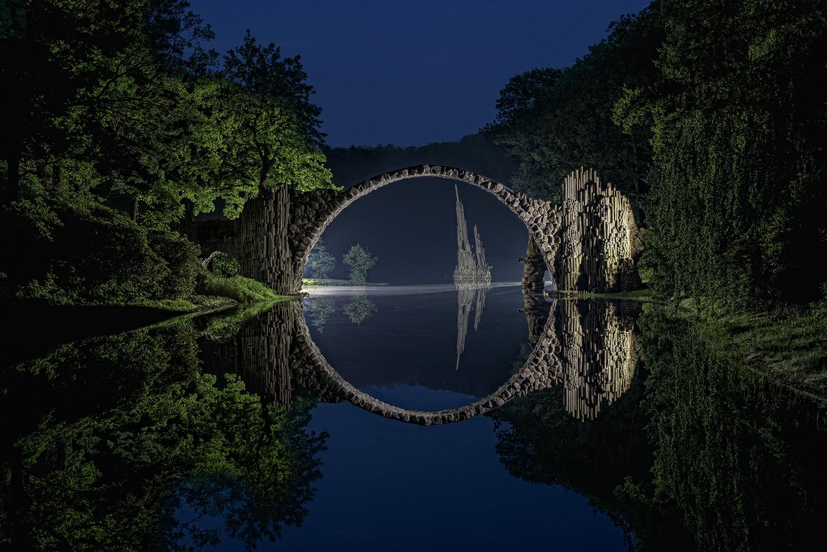 Rakotzbrücke zur Blauen Stunde