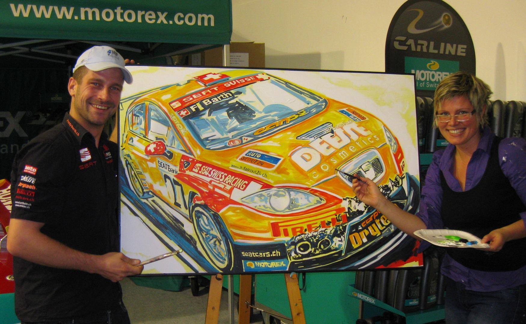 Rallyefahrer Fredy Barth als Co-Artist, 2009