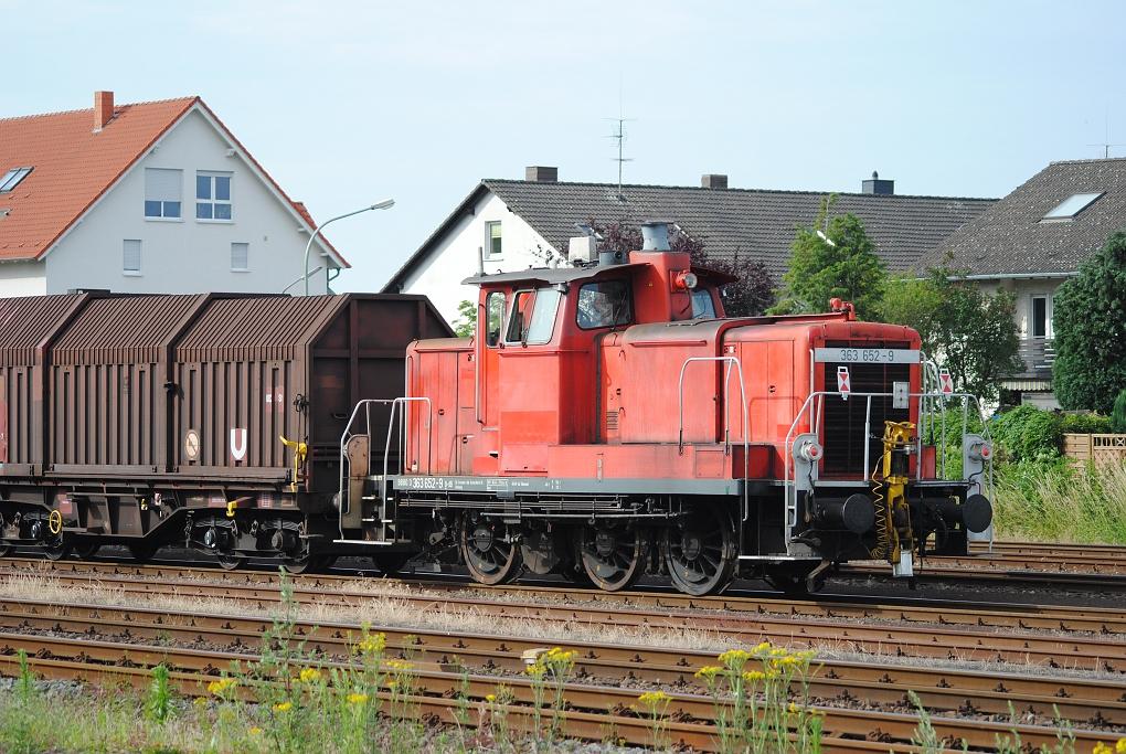 Rangieren mit 363 652-9 in Paderborn Nord