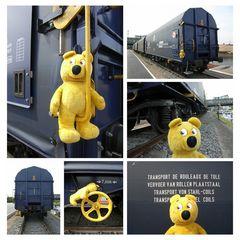Rangieren mit dem gelben Bär
