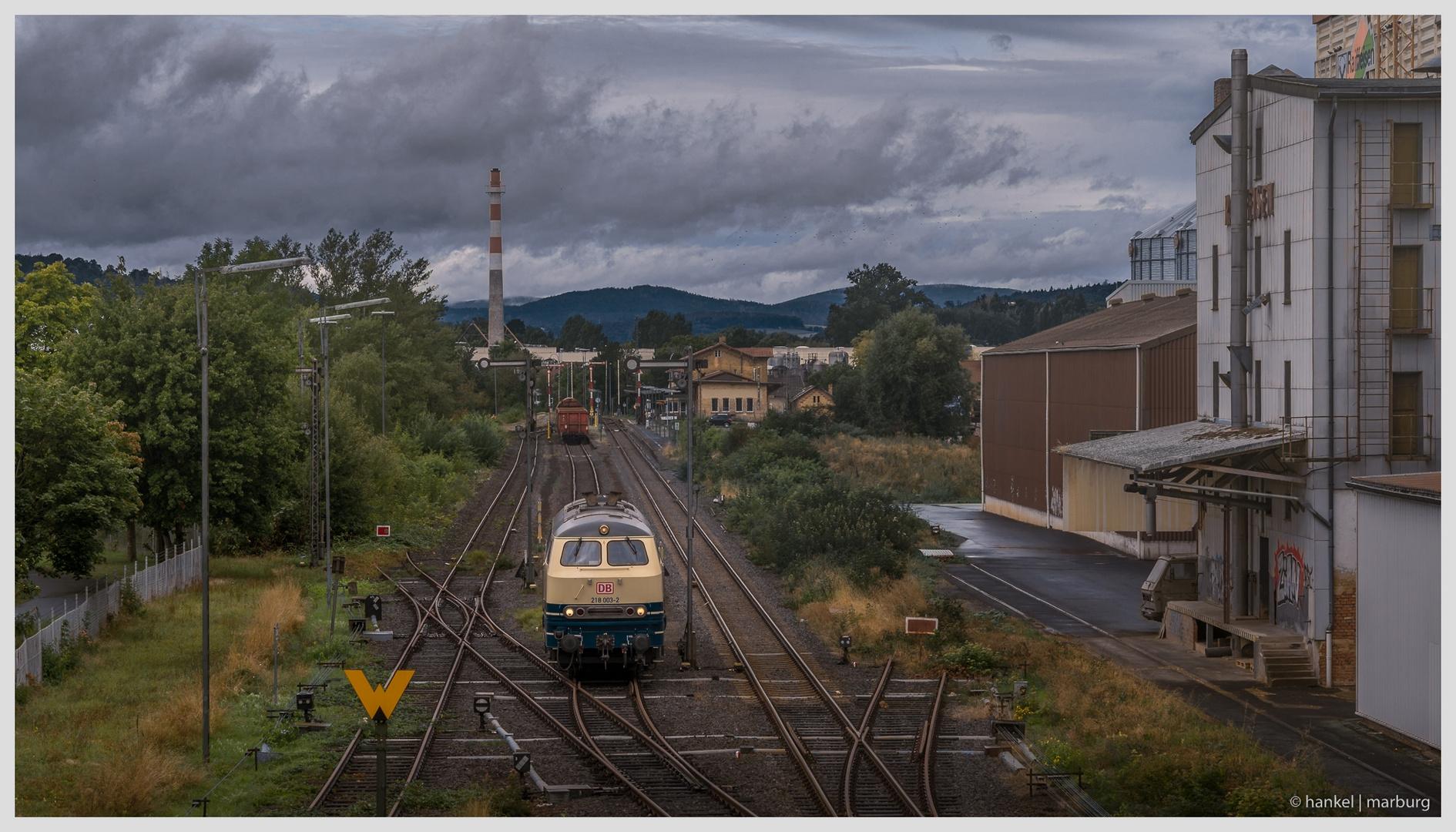 Rangierfahrt im Bahnhof Fritzlar