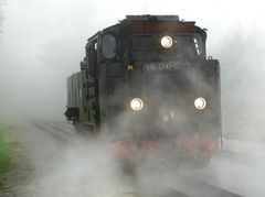 Rangierfahrt im Nebel