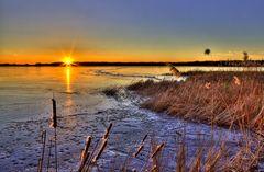 Rangsdorfer See am Abend