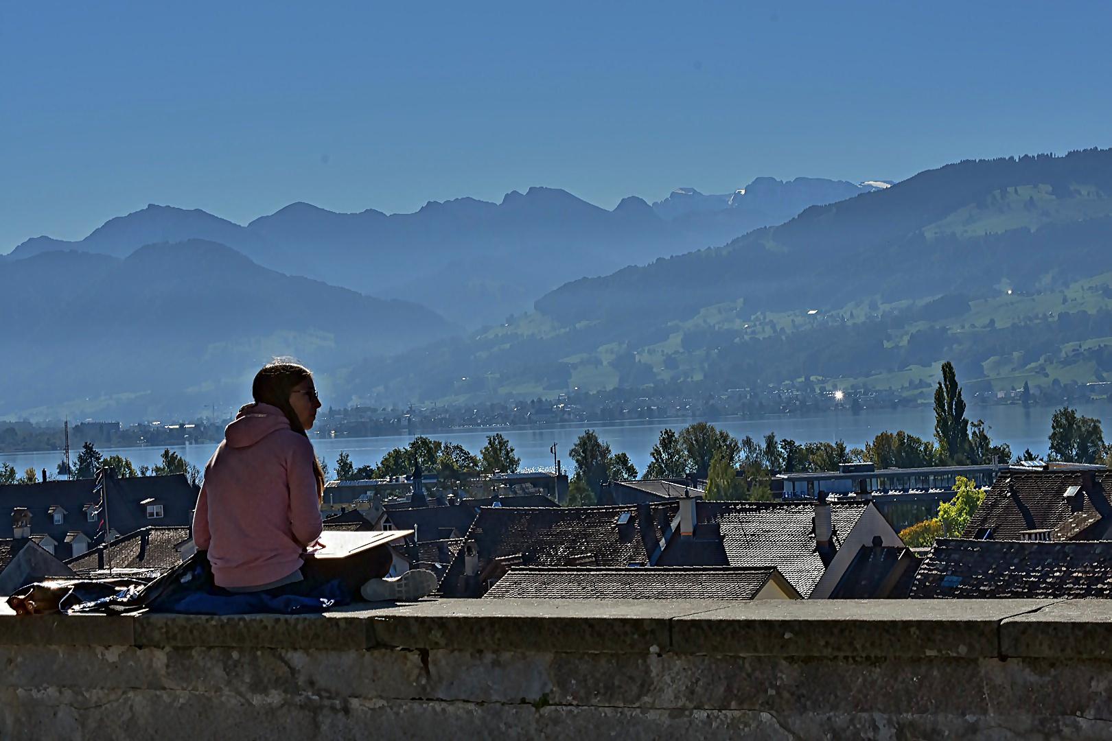 Rapperswil, Blick auf den Zürichsee