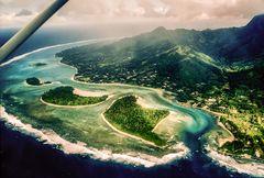 Rarotonga aus der Luft