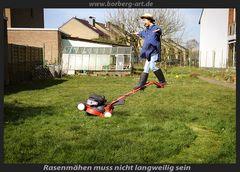 Rasenmähen muss nicht langweilig sein