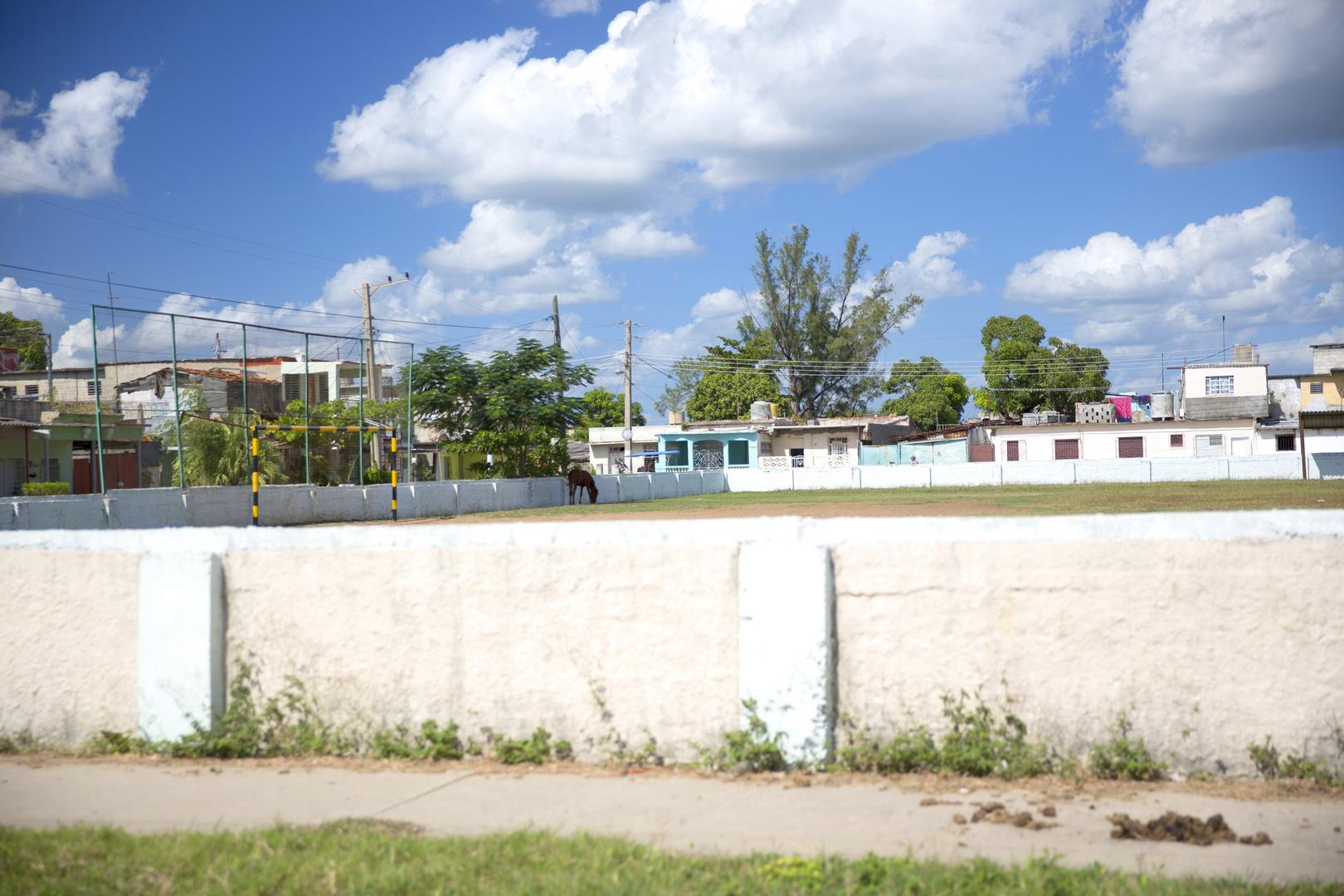 Rasenmaher Im Stadion Foto Bild Kuba Dokumentation