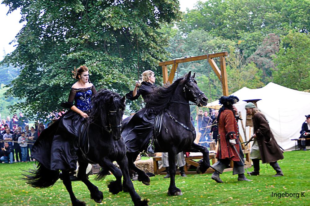 Rassige Pferde und rassige Reiterinnen