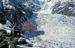 Rast am Chungphar-Gletscher