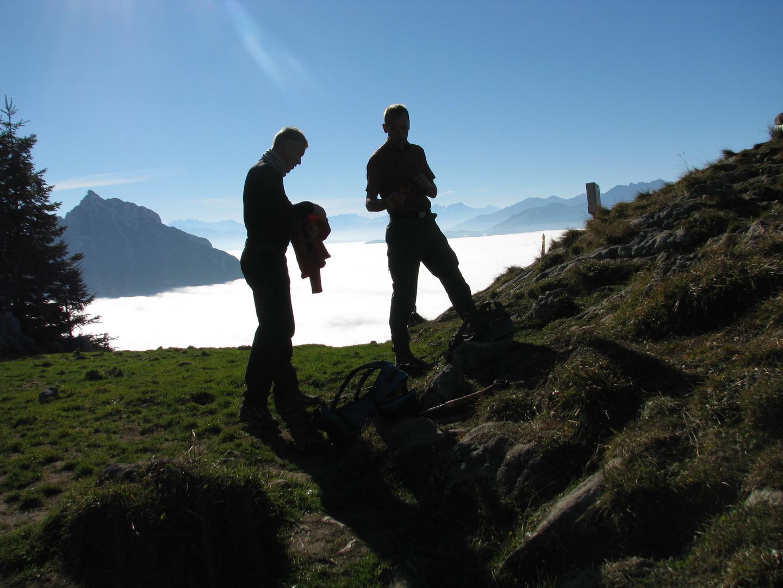 Rast am Nebelmeer