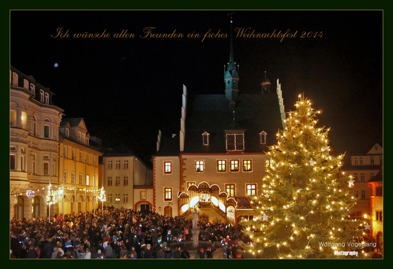 Rathaus am Heiligabend