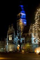 Rathaus Gladbeck - Zimtsternfest - Probebeleuchtung
