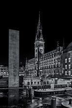Rathaus Hamburg bei Nacht II