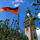 Rathaus Hamburg im Frühling