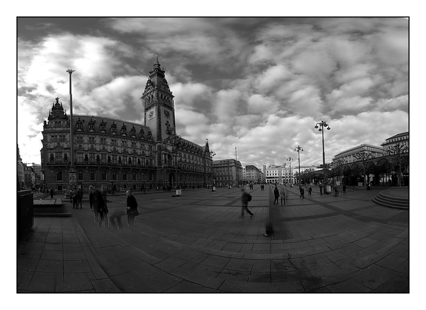 Rathaus Hamburg im November
