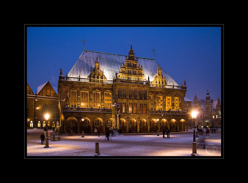 Rathaus im Schnee