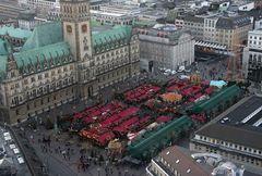 Rathaus - Markt - von - oben