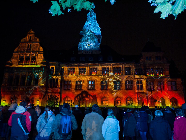 """Rathaus mit Geschichte - """"Recklinghausen leuchtet 2012"""""""