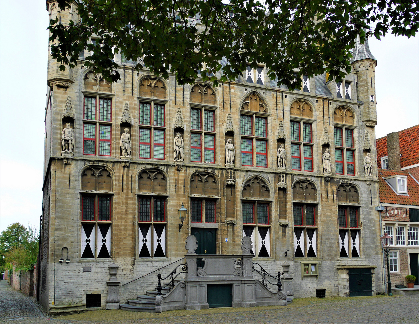 Rathaus Veere - da waren alle Figuren noch da ...