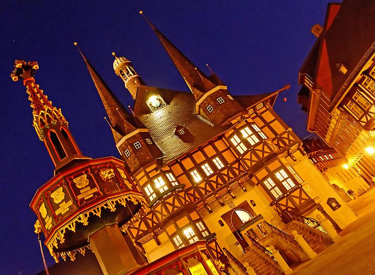 Rathaus Wernigerode nach Hasseröder