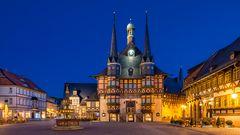 Rathaus Wernigerode zur blauen Stunde 2
