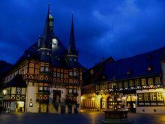 Rathaus Wernigerode zur Blauen Stunde