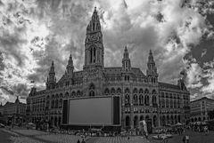 Rathaus Wien Gewitterstimmung