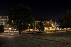 Rathausplatz Hannover bei Nacht DRI