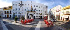 Rathausplatz Rota, Andalusien ( Panorama 180° )