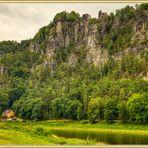 Rathen an der Elbe Sächsische Schweiz Aussichtspunkt Bastei HDR 2020-07-24 004 ©