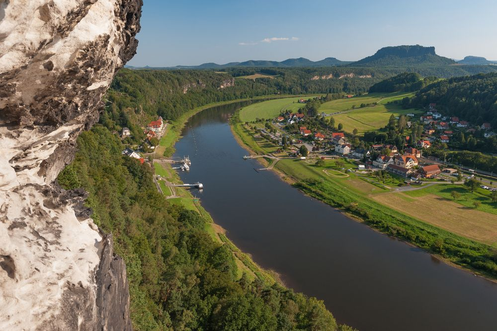 Rathen und die Elbe