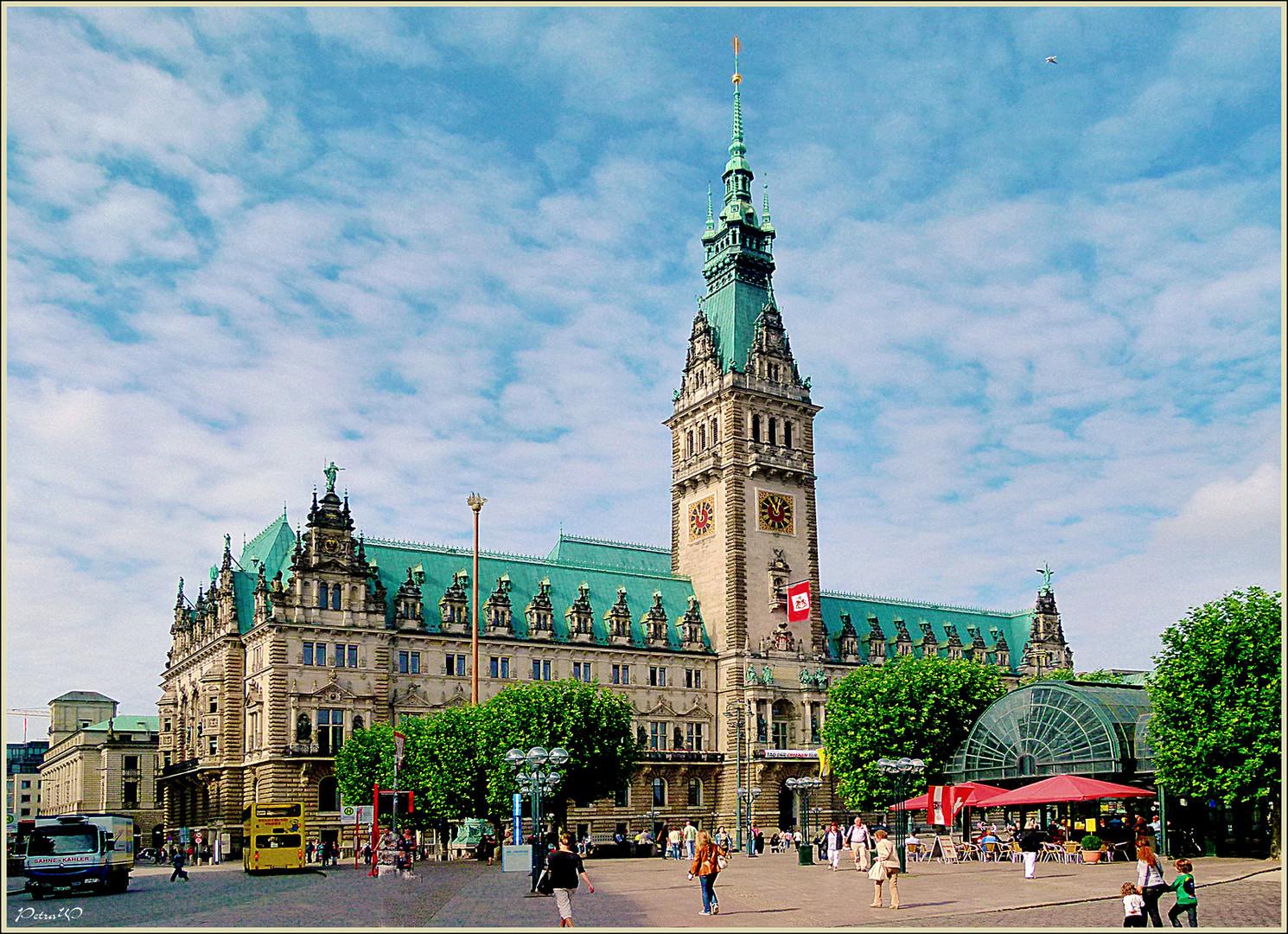 Rathhaus der  Hansestadt Hamburg