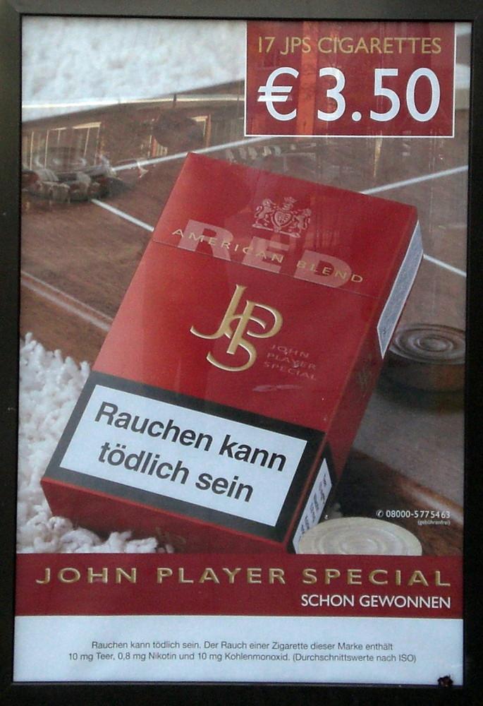 Rauchen kann tödlich sein - für drei fuffzig