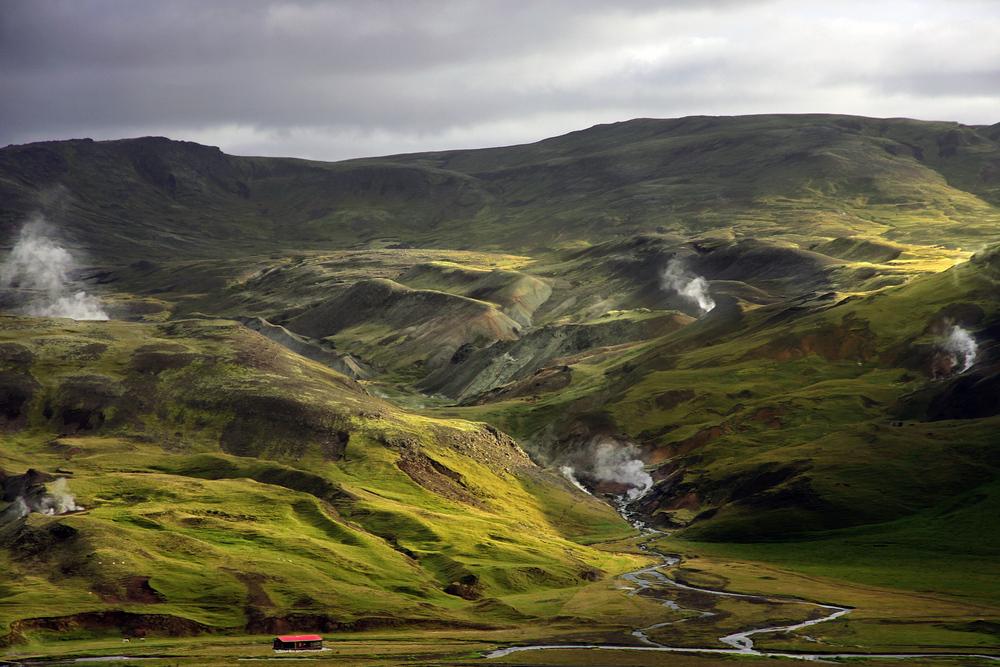 Rauchende Berge bei Hveragerði