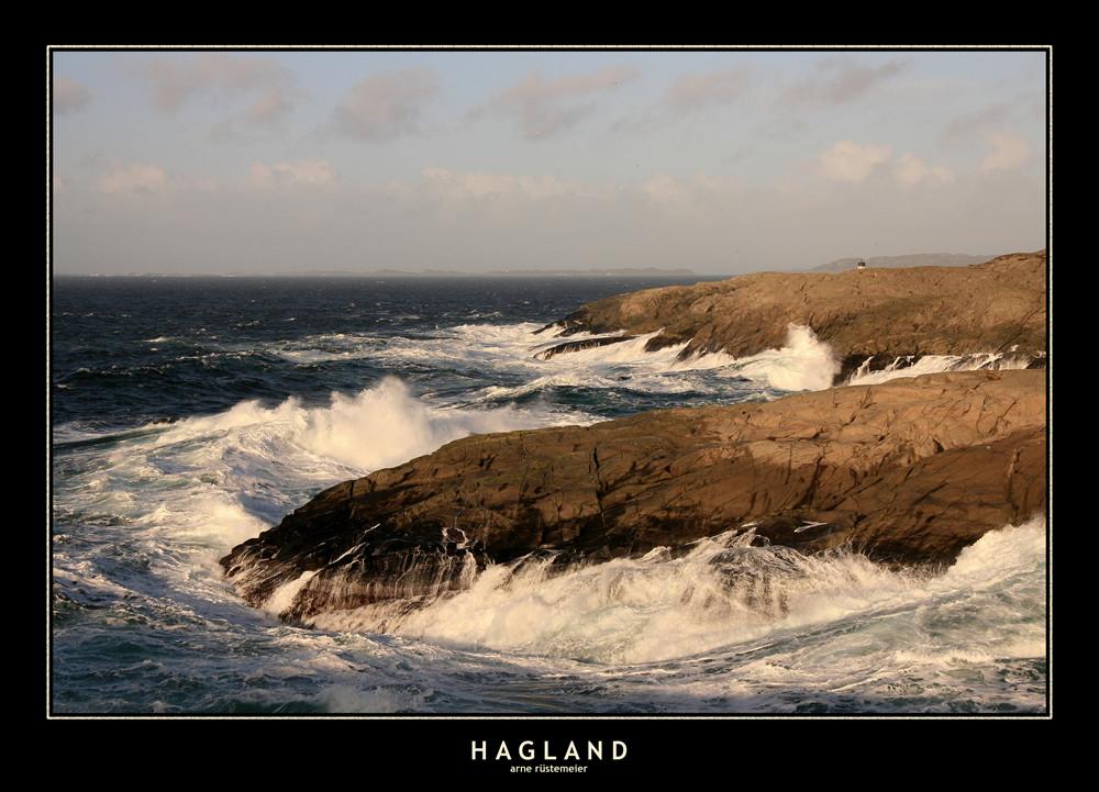Raue Küste in Hagland/Norwegen